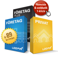 Loopia Privat- och Företagspaket