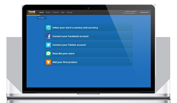 En bild av hur Tictails lätthanterade system för webbutiker fungerar